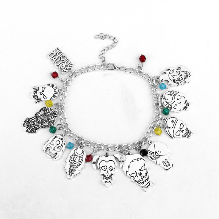 New Design Suicide Squad Bracelet Multiple Clown Pendant | Movie Jewelry