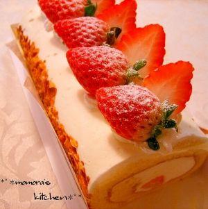 「生地材料3つだけ♪ふわふわ簡単ロールケーキ♡」全手順写真入♪添加物なし&バターなし♡シンプルで簡単♫フワフワ~♡どなたにも好まれるアレンジもしやすいロールケーキです。.。*♥*。.。・*♥【楽天レシピ】