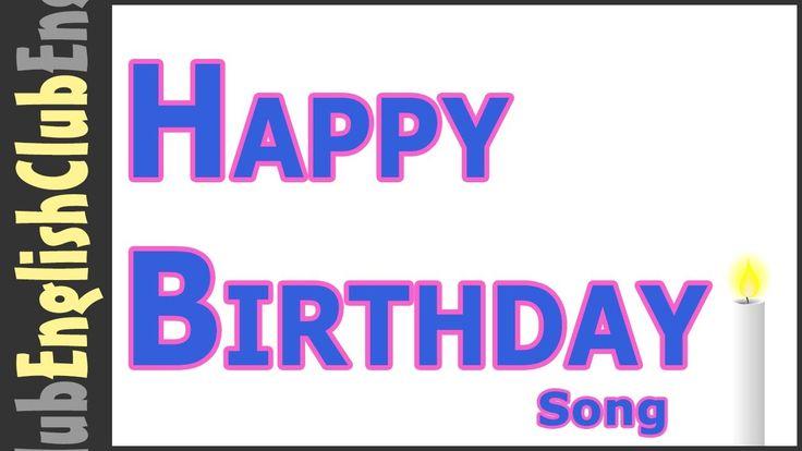 Don't forget to wish your EnglishClub friends a Happy Birthday! http://www.myenglishclub.com LYRICS Happy birthday to you Happy birthday to you Happy birthda...