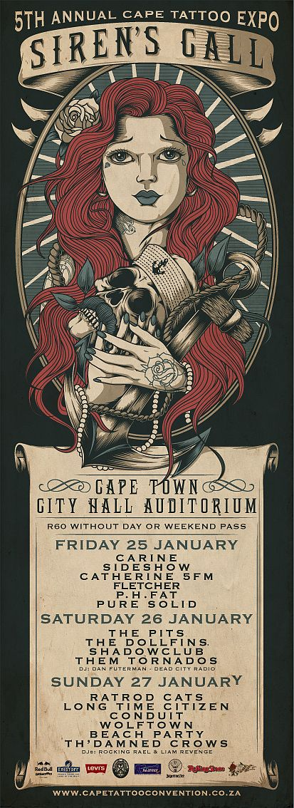 Cape Tattoo Expo 2013 by One Horse Town Illustration Studio
