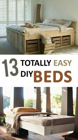 DIY Bed Ideas, Easy Bed Ideas, Homemade Beds, Do it Yourself Bedroom Furniture, DIY Bedroom Furniture, Popular Pin, DIY Furniture, Easy Furniture Ideas.