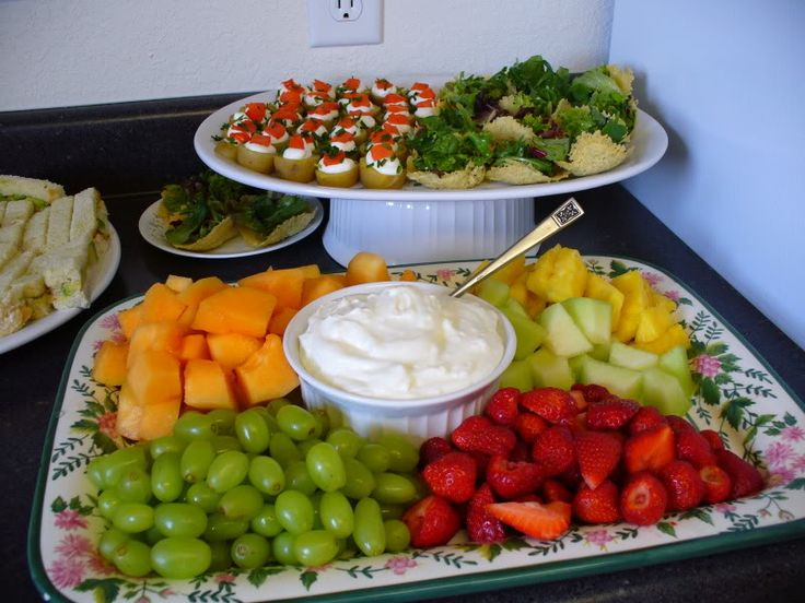 Yummy Menu Idea For A Get Together. Food For Baby ShowerBaby ...