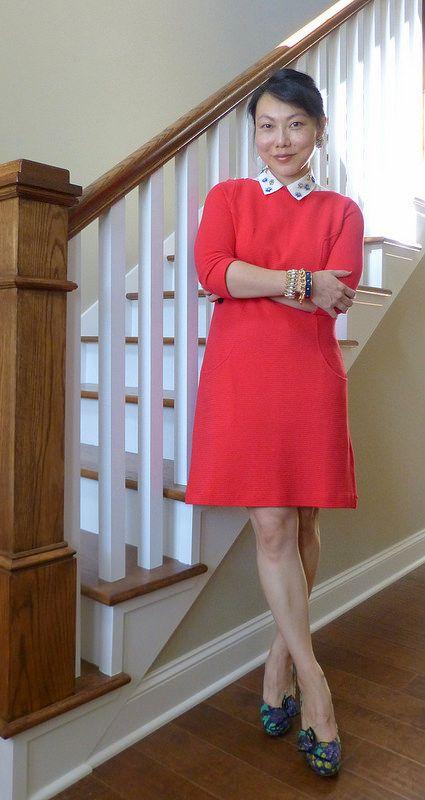 #boden dress #f21 blouse #jcrew heels