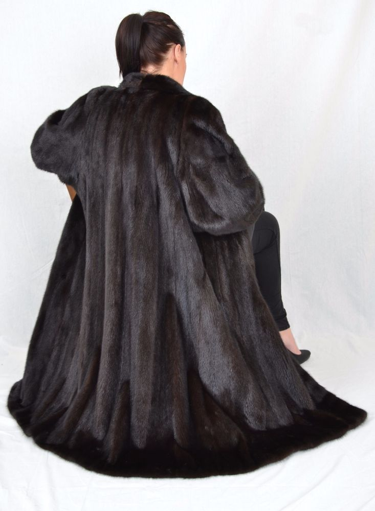 US821 Modern SAGA Mink fur coat jacket  abrigo de vison Nerzmantel ca. 2XL #Handmade #BasicCoat