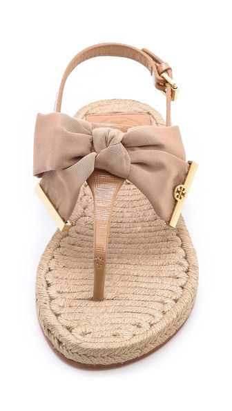 These are the cutest little sandals... Tory Burch Penny Flat Thong Espadrilles