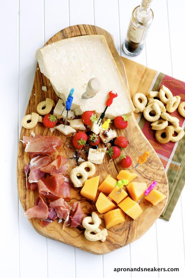 Antipasti Parmigiano Reggiano, Balsamic and Prosciutto de Parma  @Rowena Dumlao Giardina (Apron and Sneakers)