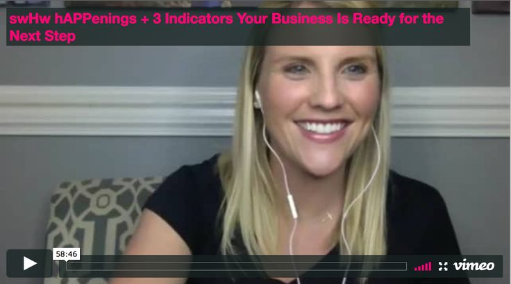 Here Michelle Myers, founder of swHw, share 3 indicators that your business or ministry is ready for the next step!
