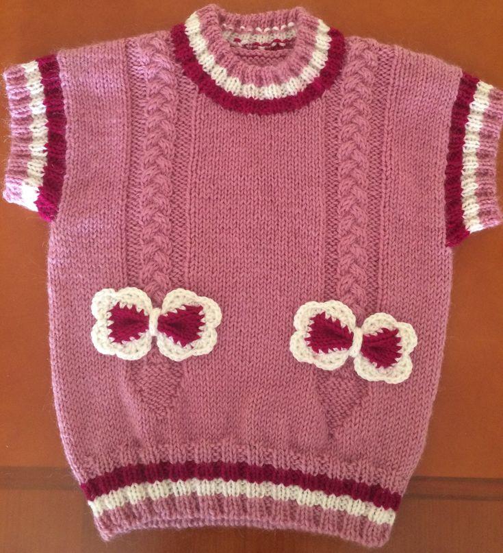 Розовая жилетка. Начало работы.