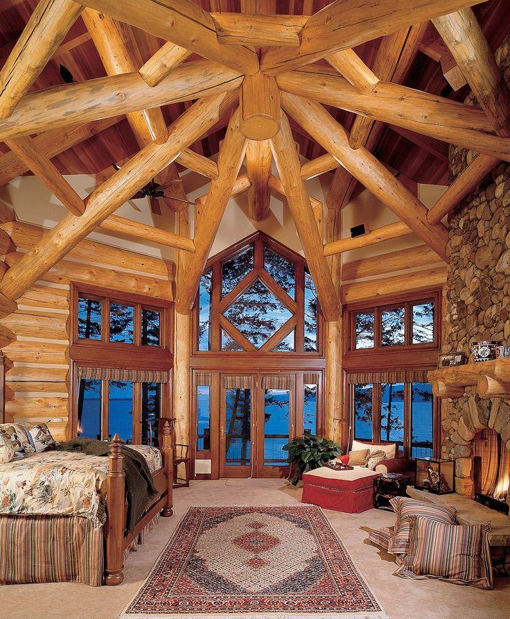 19 Log Cabin Home Décor Ideas: 25+ Best Ideas About Log Home Bedroom On Pinterest
