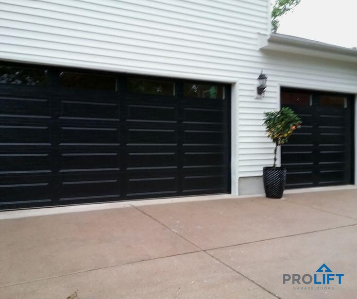 New Black Garage Doors For Modern Curb Appeal Garage Door Colors Garage Doors Contemporary Garage Doors