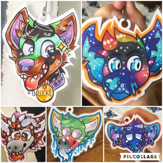 Custom Fursuit Badges by AnchorSeadog on Etsy