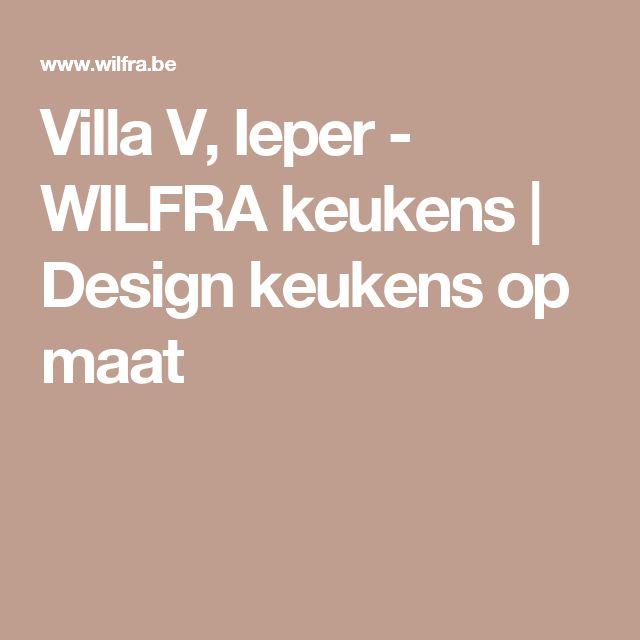 Villa V, Ieper - WILFRA keukens | Design keukens op maat