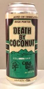 Death By Coconut is a English Porter style beer brewed by Oskar Blues Grill & Brew in Lyons, CO. 92 out of 100 with 285 reviews, ratings and opinions.