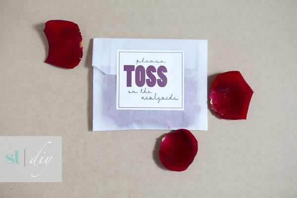 DIY | flower toss favors » Something Turquoise {daily bridal inspiration}