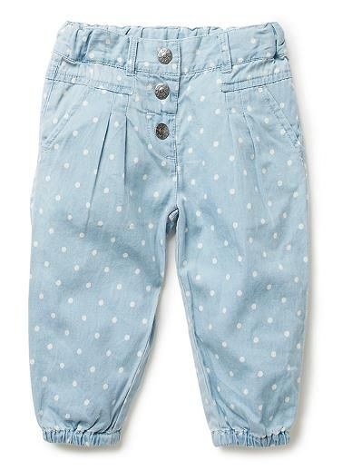 Baby Girls Pants & Shorts | Chambray Spot Pant | Seed Heritage
