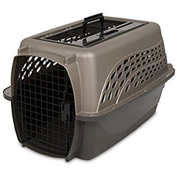 Petmate Two Door Top Load 24-Inch Pet Kennel, Metallic Pearl Tan and Coffee Ground Bottom : Hard Sided Pet Carriers : Pet Supplies: http://petplaybale.com/dogs-crates-houses-pens.html