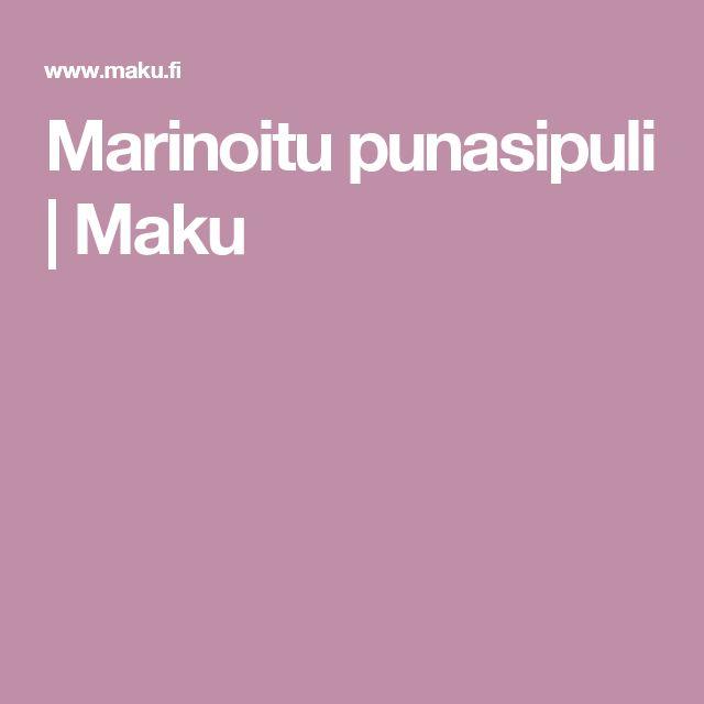 Marinoitu punasipuli | Maku