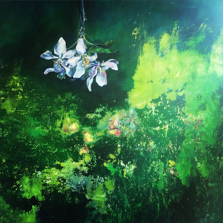 #green #layers #oil #paint