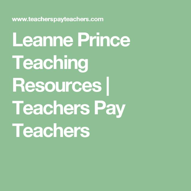 Leanne Prince Teaching Resources | Teachers Pay Teachers