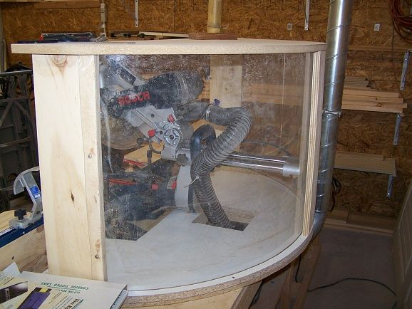 How to Make a Compound Miter Saw Dust Hood - One Project Closer