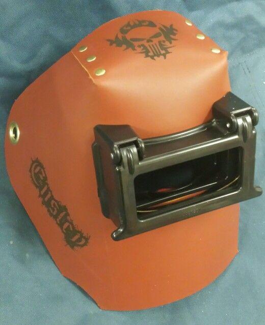 Lazer ingraved welding hood