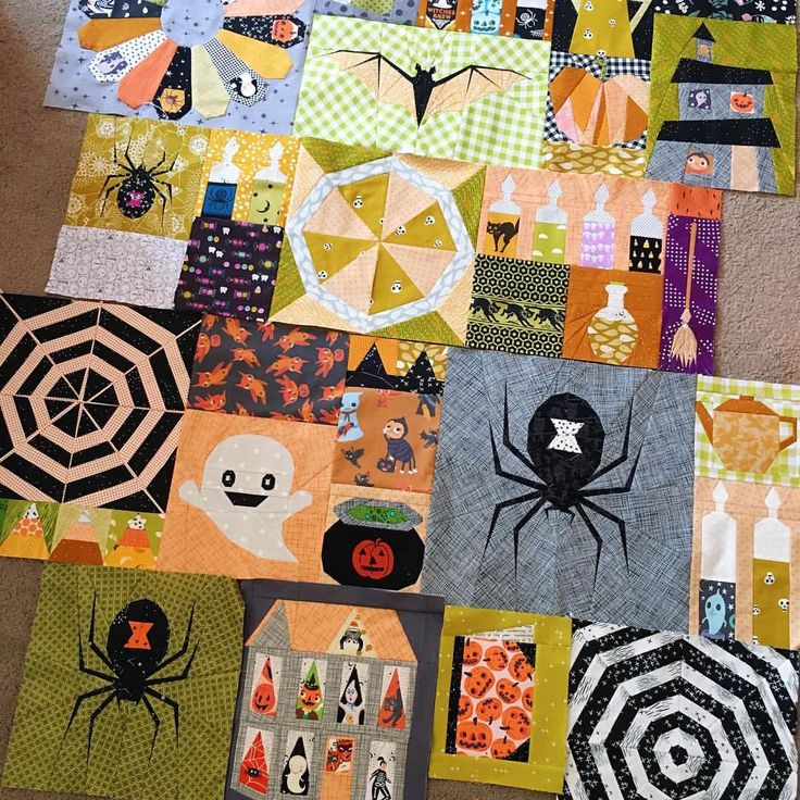 Took a break from my other Halloween quilt to pick this one back up. I started sewing it as part of @flyingparrotquilts #epichalloweenqal but I've kind of gone off pattern & now I'm just filling it up with any Halloween paper piecing pattern that strikes my fancy Determined to finish up both Halloween quilts by the end of July  #mpcquiltystuff