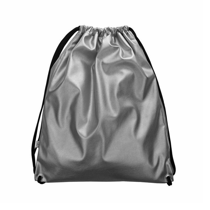 WOREK PLECAK 04 #silver #backpack #drawstring #bag #festivalbag