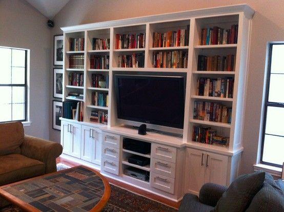 Custom built-in bookshelves!   Built in bookshelves