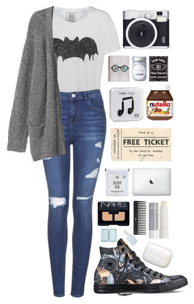 """Vampire Money"" by ellac9914 ❤ liked on Polyvore featuring Converse, Zoe Karssen, Topshop, Monki, Retrò, Happy Plugs, NARS Cosmetics, Sephora Collection, Korres and Sisley Paris"