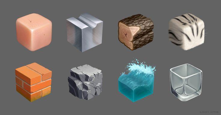 Material practice, Aleksei Astron on ArtStation at https://www.artstation.com/artwork/material-practice-99341120-0df6-4faa-8da2-abe76c6c2acd