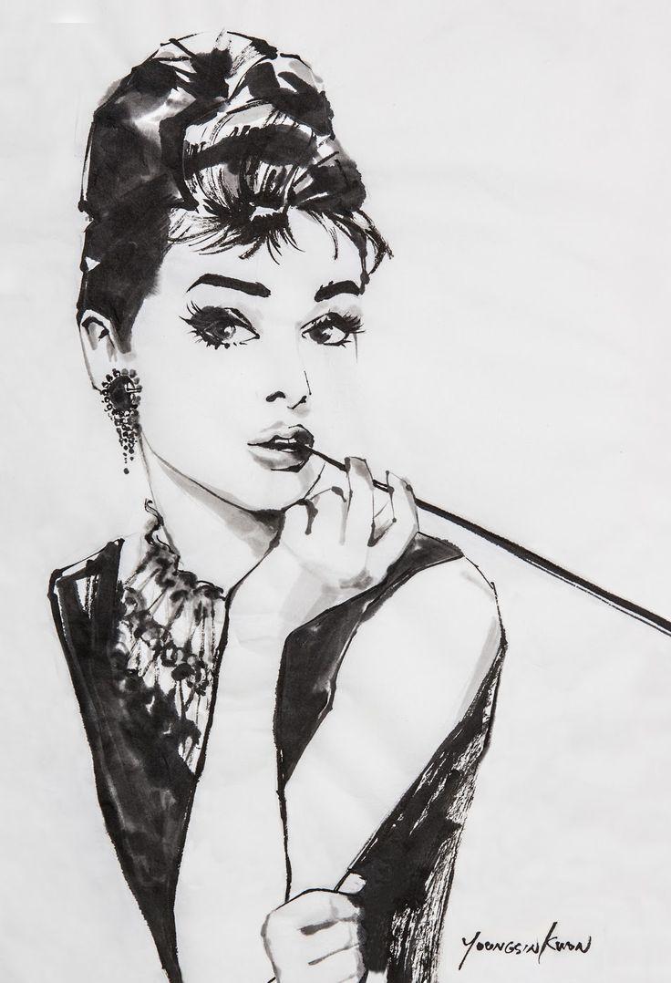 Одри хепберн черно белые картинки