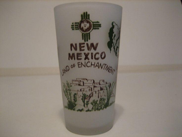 Vintage New Mexico Souvenir Glass by rldglass on Etsy