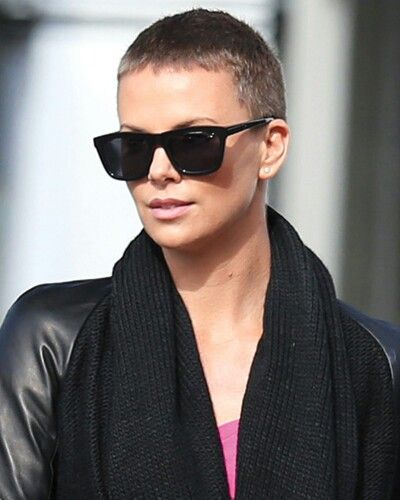 Charlize buzz cut