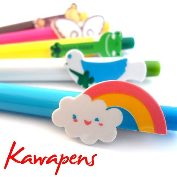 Something you should always have in your bag… the Kawapens! They're colorful, funny and - most of all - kawaii. Choose now your favorite one and add it to your personal stationery.  Find it on www.Delicute.com