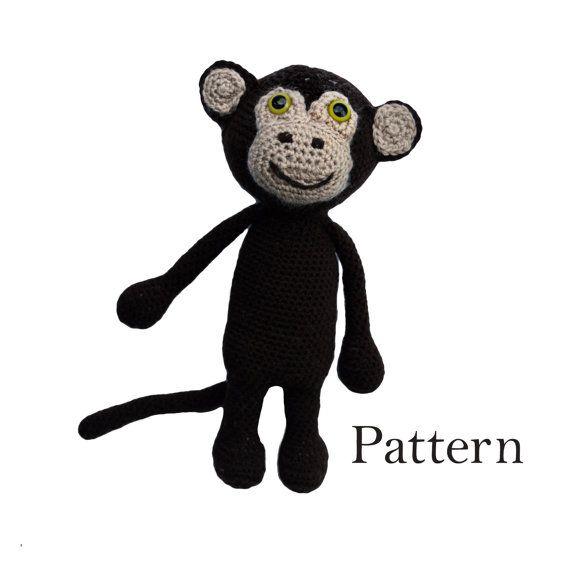 Cute Monkey Amigurumi Crochet Pattern  DIY Soft by roamingpixies