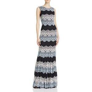 Аква кружева платье Триколор