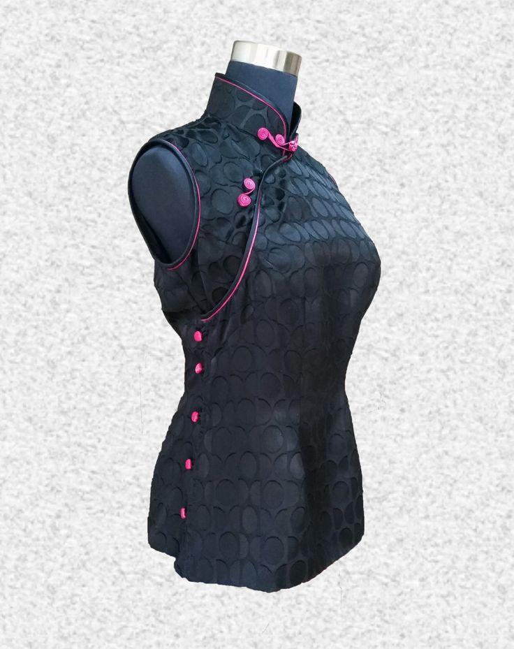 Polka Dots Qipao Cheongsam Top Orientalische Kleidung von Phyllas