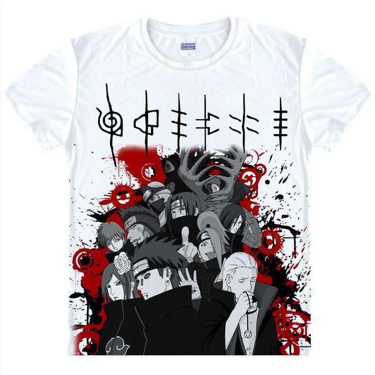 Naruto Cosplay Betray Ninja Uchiha Itachi Printed Short-Sleeve T-shirts Sasuke Costumes Kakashi Tees Casual Breathable Tops