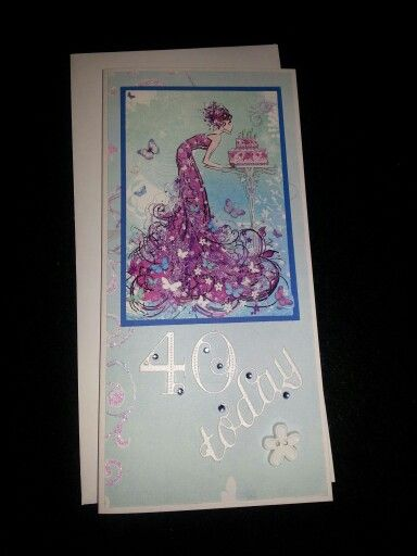 40 th birthday card - lady
