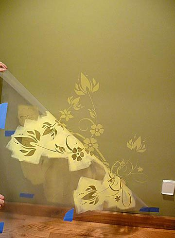 114 best Wall Art Stencils images on Pinterest | Wall stenciling ...