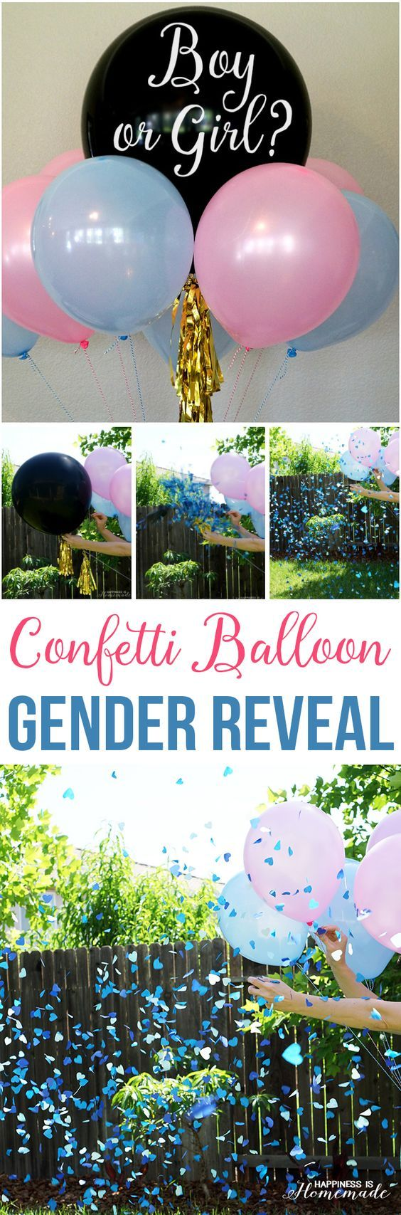 Baby Gender Reveal Party Ideas + Free Printable Invitation - Happiness is Homemade