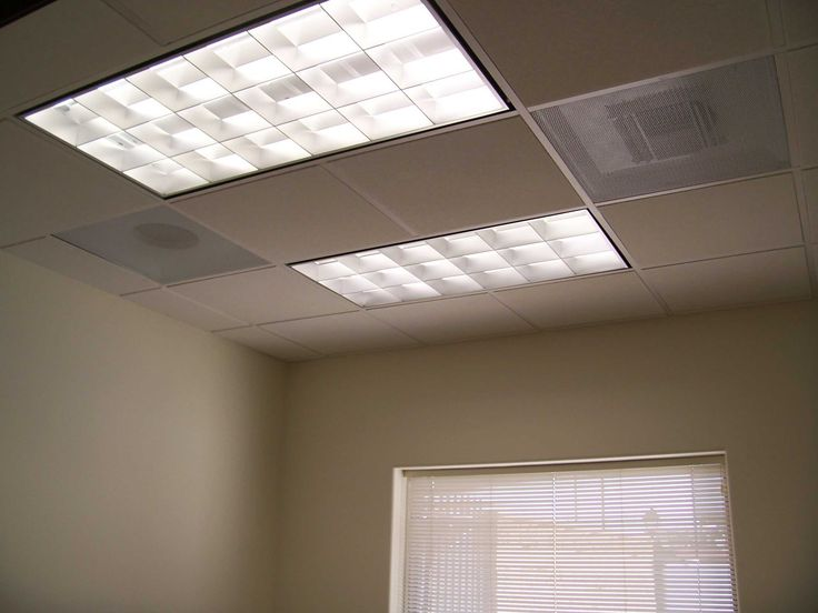 Overhead Fluorescent Light Fixtures