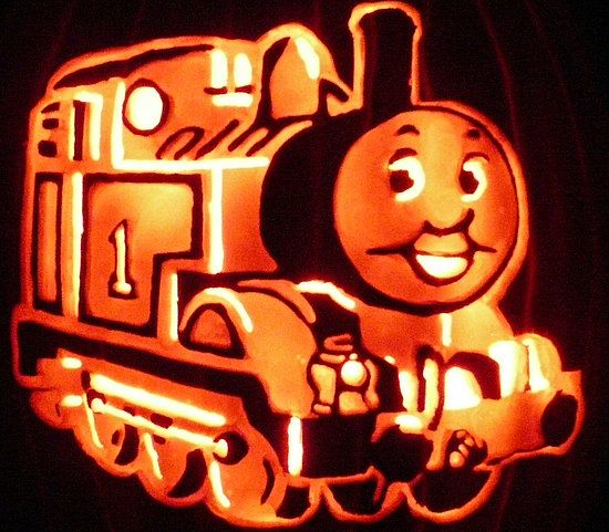 Thomas the tank engine halloween pinterest for Thomas pumpkin template
