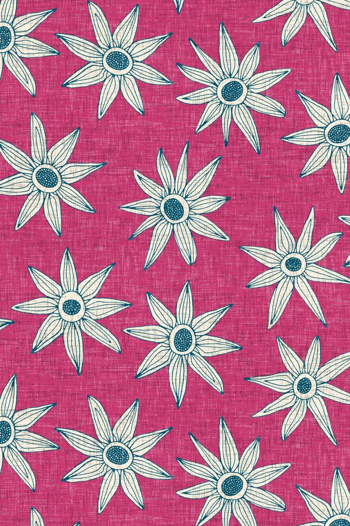 sema means heaven in Turkish ~ illustrative floral inspired by vintage textiles