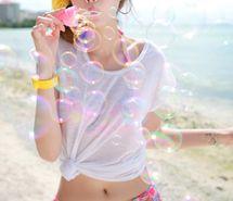 Вдохновляющая картинка азиатская девушка, пляж, пузыри, мило, девушка. Разрешение: 496x324. Найди картинки на свой вкус!