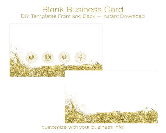 The  Best Blank Business Cards Ideas On   Diy Straw