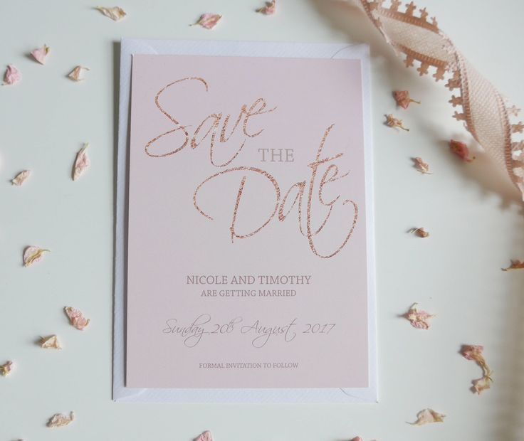 Rose Gold and Blush Save the Date, Save the Date Card, Glitter, Silk or Magnetic by LetLoveSparkleDesign on Etsy https://www.etsy.com/uk/listing/540327634/rose-gold-and-blush-save-the-date-save