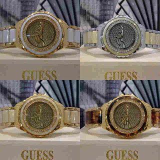 Guess Diamond Ring Loggo Harga : Rp 210.000,-  Spesifikasi : Tipe : jam tangan wanita Kualitas : kw super Diameter : 3,5cm Tali : rantai  Pemesanan bisa hubungi :  SMS 081929271117 Pin BB 270C3124