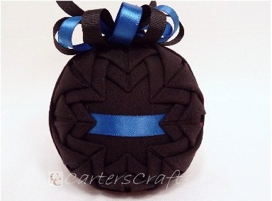 Thin Blue Line Quilted Fabric Ornament by CartersCrafts12 on Etsy