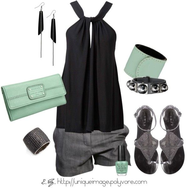 summer night out. Cute top, don't like the color of the clutch though: Outfits, Mint Green, Fashion, Summer Outfit, Style, Dream Closet, Clothes, Summer Night